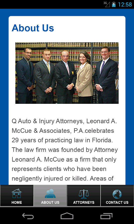 Q Law Accident App- screenshot