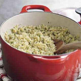 Orzo with Lemon and Parsley.