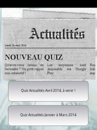 Quiz Actualités