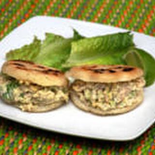 Arepa Chicken Salad Sandwich.  Marian Blazes
