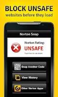 Screenshot of Norton Snap qr code reader
