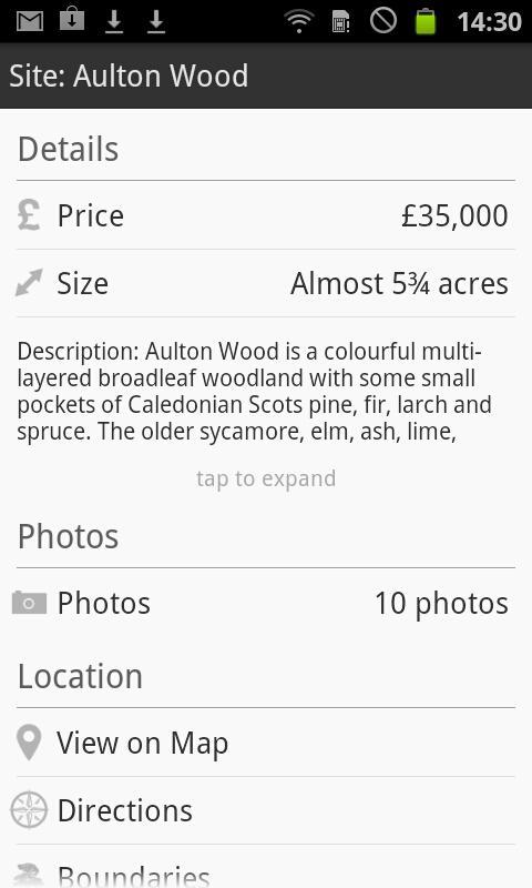 Woodlands.co.uk- screenshot
