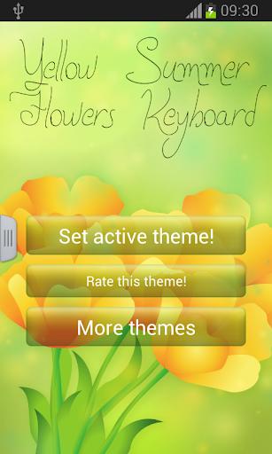 黄色の夏の花のキーボード