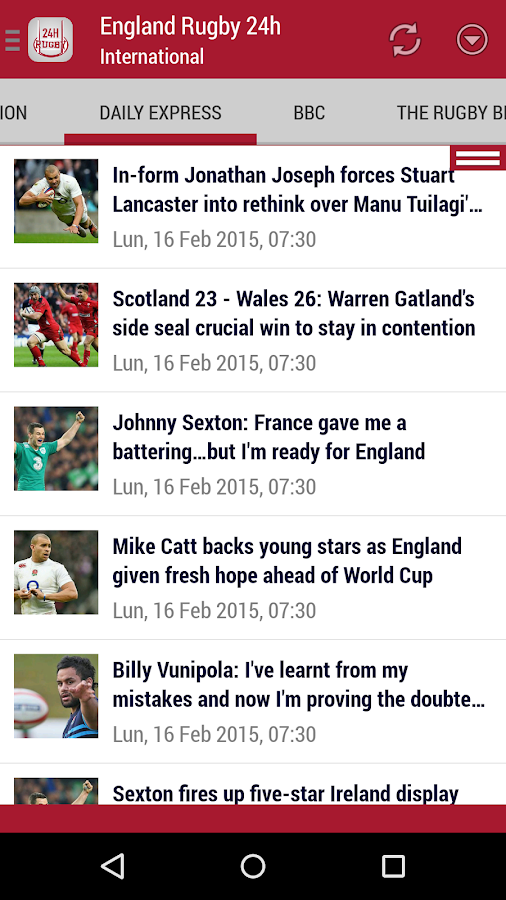 England Rugby 24h- screenshot