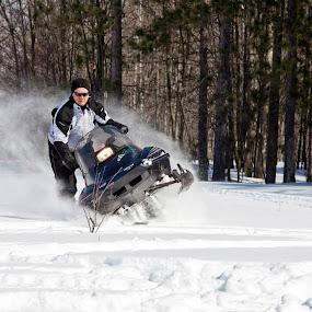 Snowmobiling by Joe Eddy - Sports & Fitness Motorsports ( winter, spray, snowmobile, snow, powersports, arcticcat )