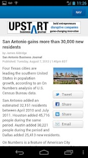 San Antonio Business Journal - screenshot thumbnail