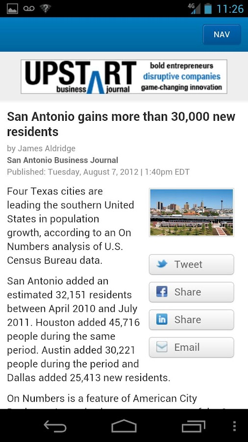San Antonio Business Journal- screenshot