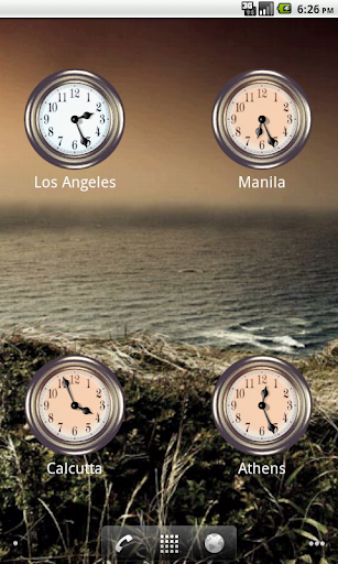 International Clock Widget