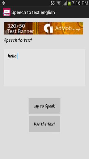 Speech to text english