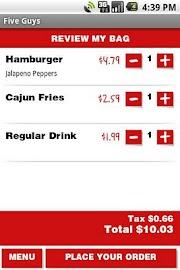 Five Guys Burgers & Fries Screenshot 4