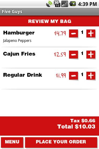 Five Guys Burgers & Fries - screenshot