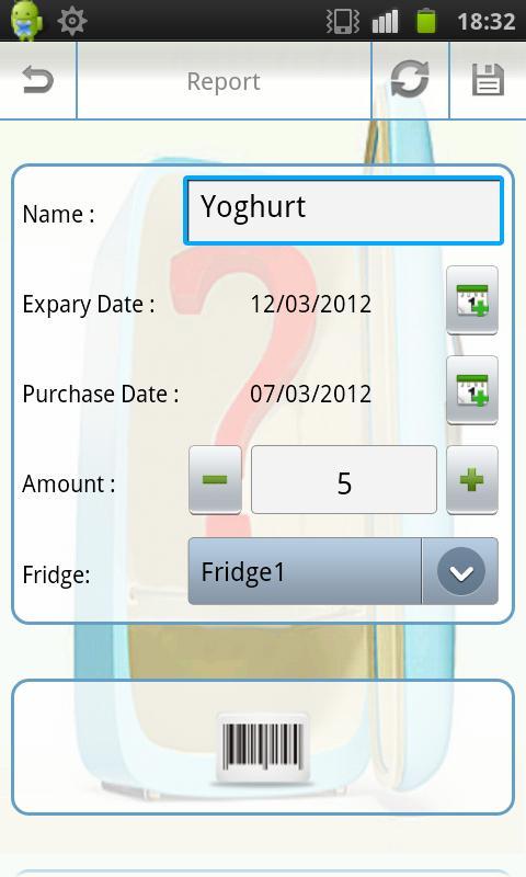 My Fridge (free): captura de pantalla