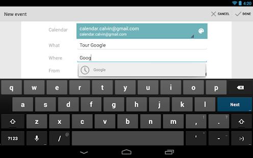 Google Calendar Screenshot 18