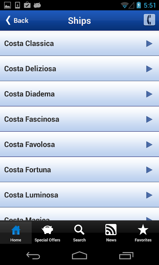 Ticketcosta - Cruises- screenshot