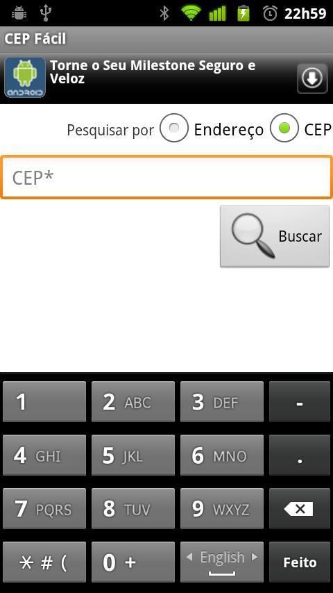 CEP Fácil - screenshot