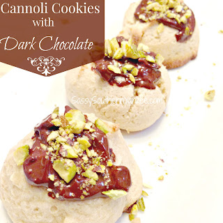Gluten Free Cannoli Cookies with Dark Chocolate.