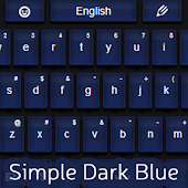 Simple Keyboard Dark Blue