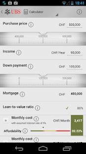 UBS Mortgages - screenshot thumbnail