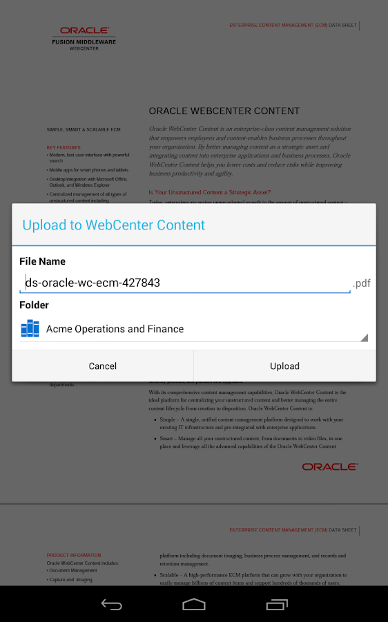 Oracle WebCenter Content - screenshot