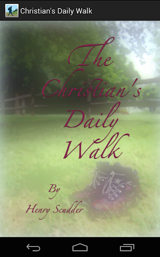 The Christian's Daily Walk