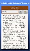 Screenshot of My Writing Spot