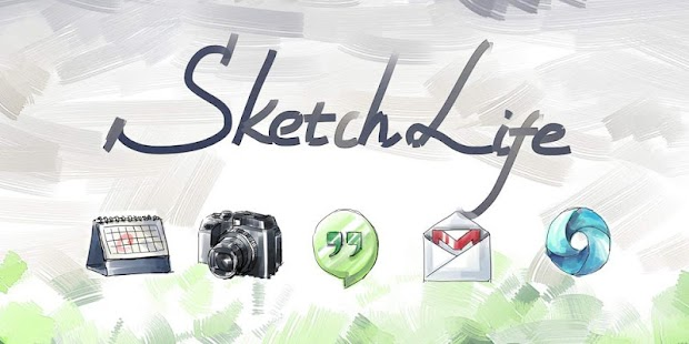 Sketch Style Icons Wallpapers