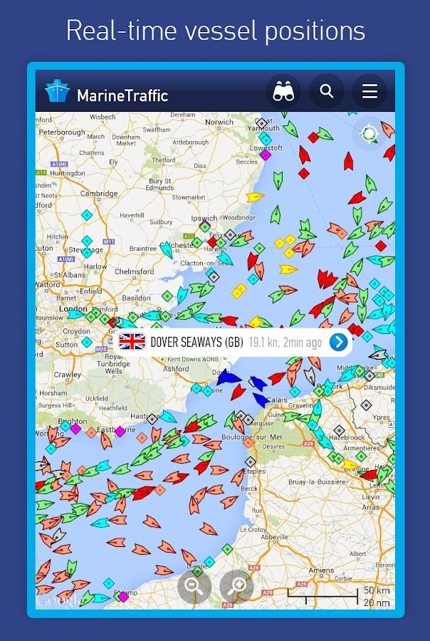 MarineTraffic – Capture d'écran