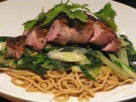 Szechuan Duck with Bok Choy