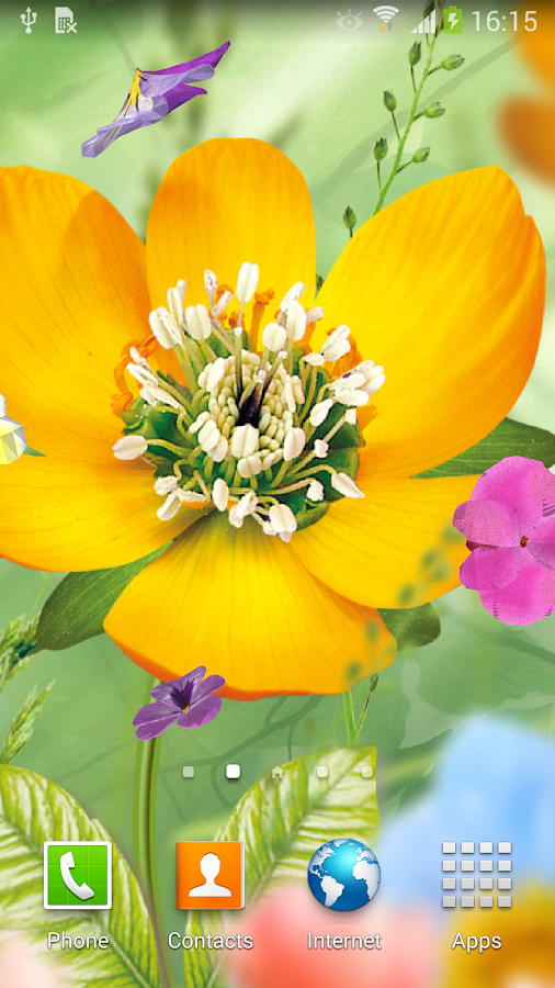 3d flowers live wallpaper lite android apps on google play - Flower wallpaper 3d pic ...