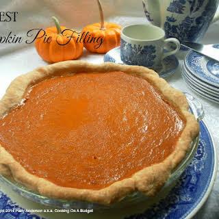 The BEST Pumpkin Pie Filling.