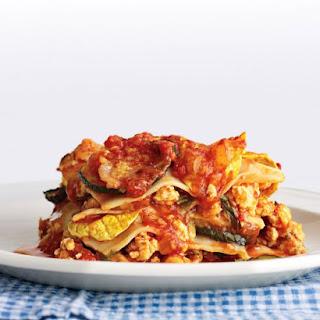 Light Chicken and Squash Lasagna.