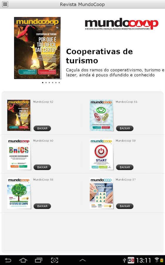Revista MundoCoop- screenshot