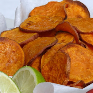 Sweet Potato Chips with Lime.