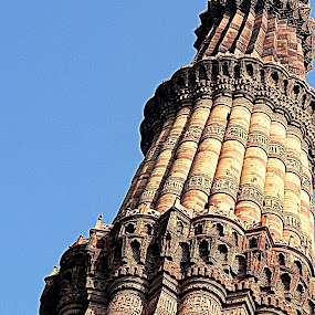 Qutab Minar - Another angle by Ravi Prakash - Buildings & Architecture Architectural Detail ( india, architecture, qutab minar, delhi,  )