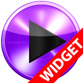 Poweramp  widget PURPLE METAL