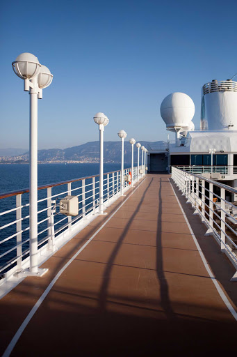 Azamara-Quest-walking-path - Exercise on open decks and take in wide-open seas on your Azamara cruise.