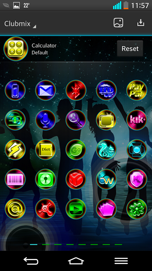 Next Launcher 3D Theme ClubMix - screenshot