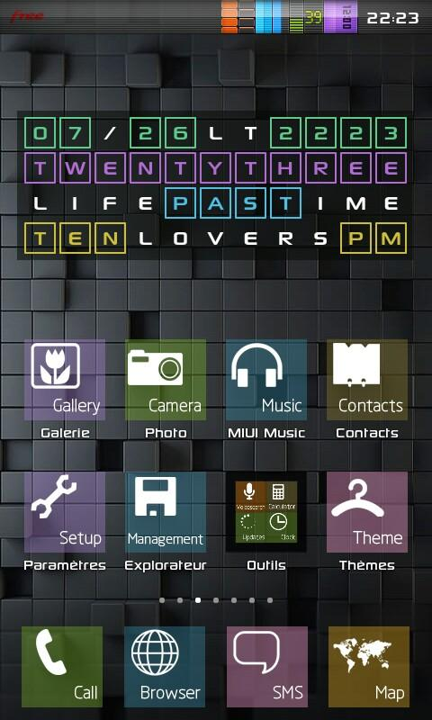 Cross Word Clock Widget Free- screenshot