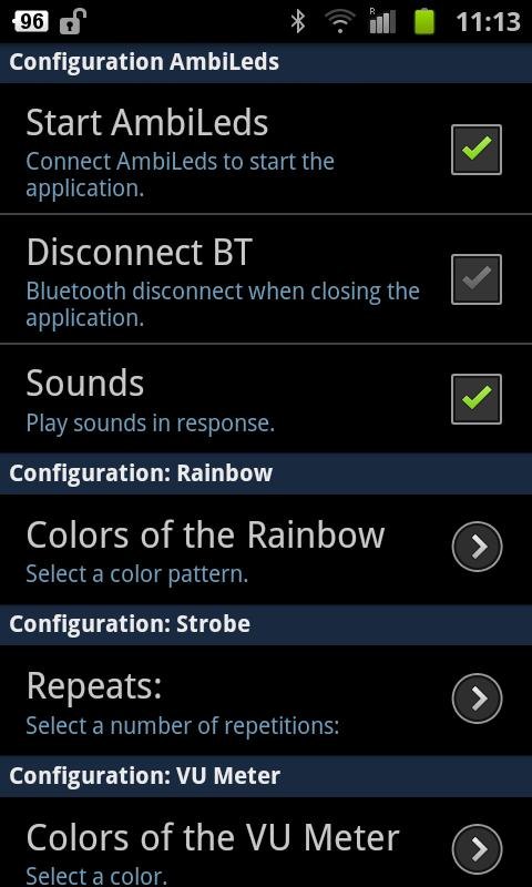 AmbiLeds BT- screenshot