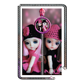 Cute Dolls Zipper Screen Lock