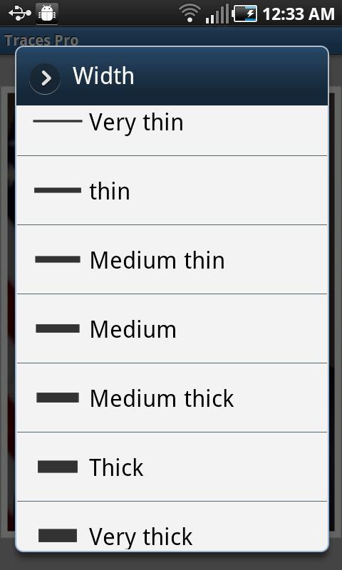Traces Pro- screenshot