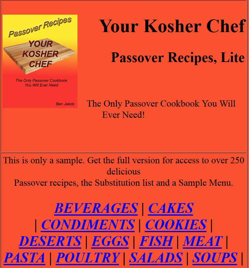 Over 250 Passover Recipes- screenshot