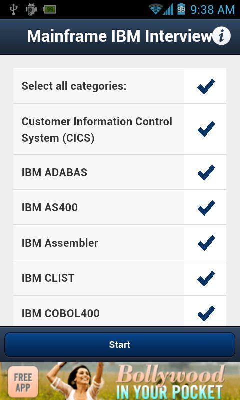 Mainframe IBM Interview QA - screenshot