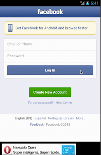 Lite WebApp For FaceBook