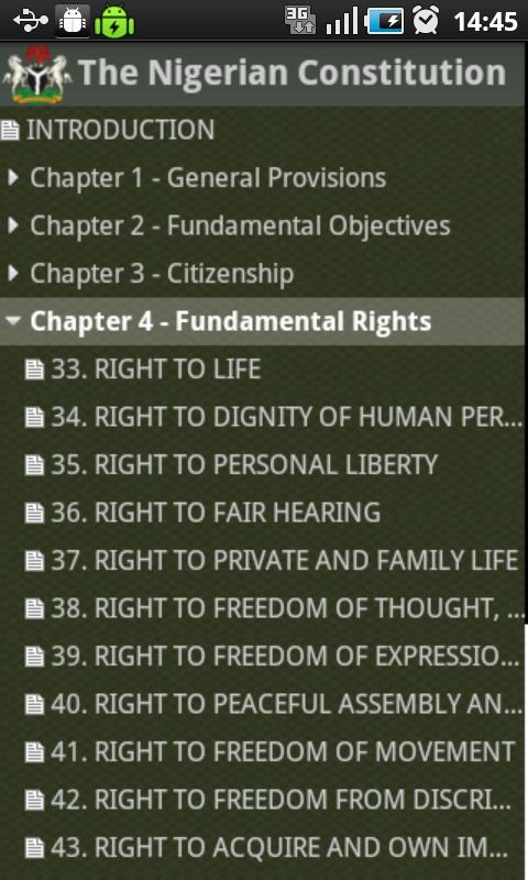 Nigerian Constitution - screenshot