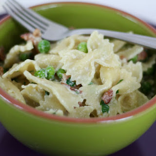 Creamy Farfalle With Peas And Bacon