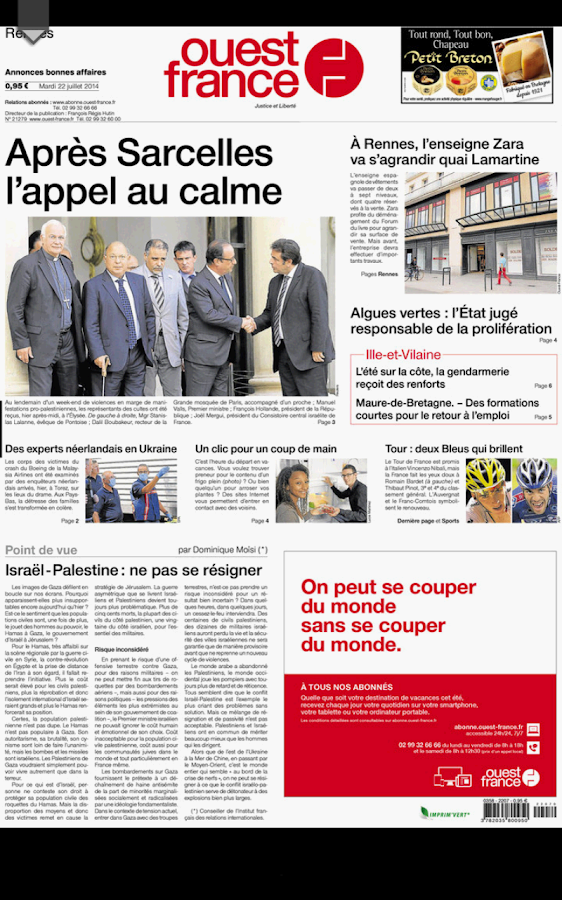 Ouest france le journal android apps on google play - Ouest france le journal gratuit ...