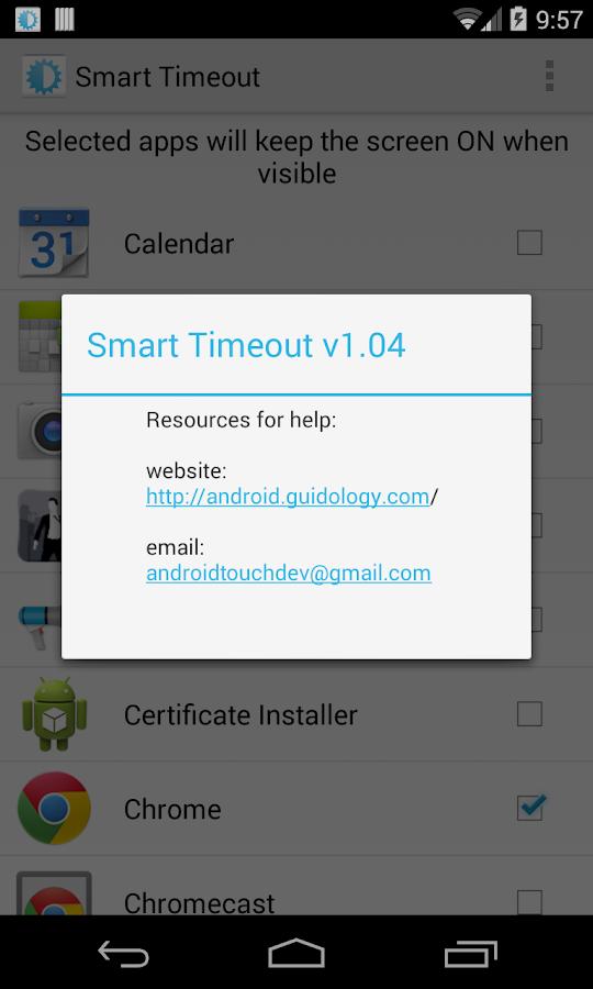 Smart Timeout Keep Screen On - screenshot