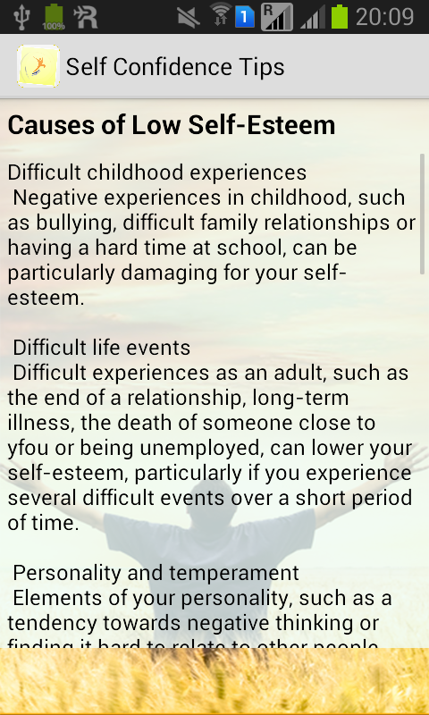 Self Confidence Tips - Android Apps on Google Play