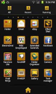 GO Launcher EX Theme BlackGold - screenshot thumbnail